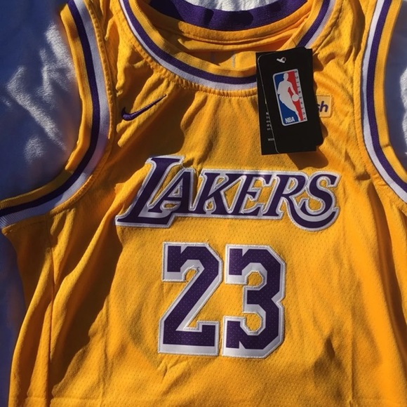 best loved c58a1 a67f2 Kids Lebron James laker jersey NWT